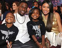 Kevin Hart and Eniko Parrish. with Family