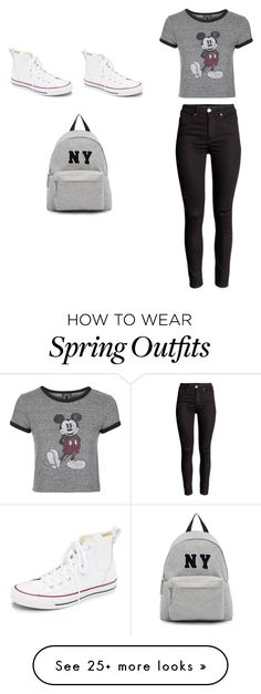 """""""Mickey Spring Outfit"""" by heloisevatel74 on Polyvore featuring Topshop, Converse, Joshua's, women's clothing, women's fashion, women, female, woman, misses and juniors"""
