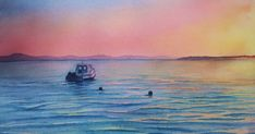 I started teaching how to paint different water scenes in watercolor on Thursday. This is my second time teaching the course and what is gre...