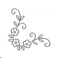 Corner Floral Hand Embroidery / Coloring Page