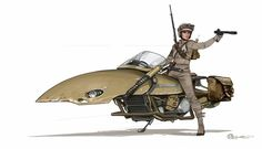 So a new Star Wars game got announced today, and people seem pretty ho-hum about it, mostly because it's for mobile. But it got my attention right away, mostly for the art. Star Wars Characters, Star Wars Art, Star Wars Concept Art, Star Wars Games, Dieselpunk, Croquis, Spaceships, Hover Bike, Star Wars Vehicles