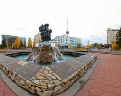 Fairbanks Alaska, My Grandfather, Grandmother, Mom, Aunts and Uncle's names are all on this fountain!