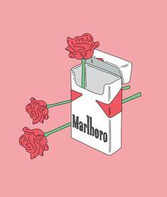 Самые популярные тэги этого изображения включают: rose, wallpaper, cigarette, marlboro и pink