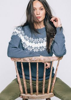 """Pullover with a pattern """"Rose Selbu"""" Knit Patterns, Clothing Patterns, Etnic Pattern, Editorial Fashion, Knit Crochet, Sequin Skirt, Graphic Sweatshirt, Sweaters, Cardigans"""