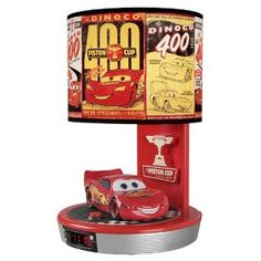 Lightening McQueen alarm clock lamp