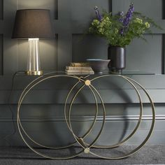Etienne Glass Top Console Table