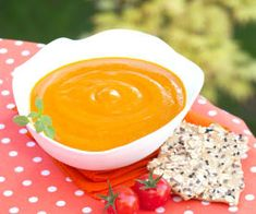 Śródziemnomorska zupa pomidorowa Cheddar, Tofu, Pesto, Peanut Butter, Pudding, Desserts, Collection, Tomatoes, Sugar