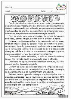 SOS PROFESSOR-ATIVIDADES: Tipos de solo