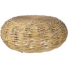 nest rattan coffee table  | CB2; $299