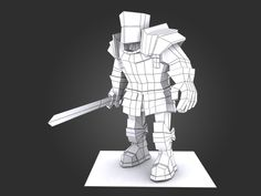 lowpoly knight - Google 검색