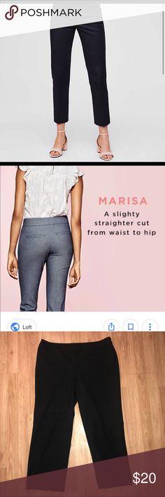 Ann Taylor Loft Size 10 Cropped Pants Ann Taylor Loft Size 10 Marisa Black Cropped Pants.  Inseam is approximately 25 in LOFT Pants Ankle & Cropped