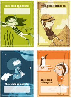 Free bookplates for kids by Illustrator Isabel Roxas