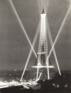 The Eiffel Tower, Paris,  1947  by  René-Jacques