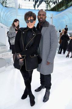 Pin for Later: Les Célébrités Se Bousculent à la Fashion Week de Paris Kris Jenner et Corey Gamble Au défilé Chanel.