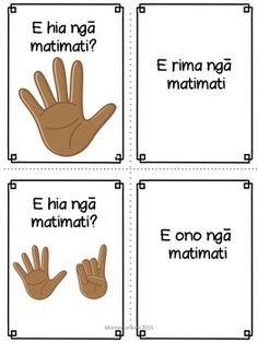 Maori numbers and counting School Resources, Teacher Resources, Preschool Learning, Learning Activities, Activities For 5 Year Olds, Childcare Environments, Maori Words, Primary Maths, Maori Art