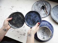KANA offers a bespoke range of beautifully hand-made and hand-painted ceramics for the home, as well as also offering workshops for those who are looking to learn the skill themselves. Food Photography Course, Photography Courses, London Design Festival, George Nelson, Hand Painted Ceramics, Icon Design, Workshop, Handmade, Bespoke