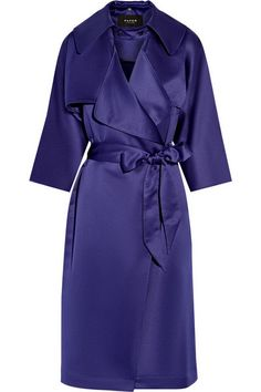 Paper London | Satin-crepe trench coat | NET-A-PORTER.COM