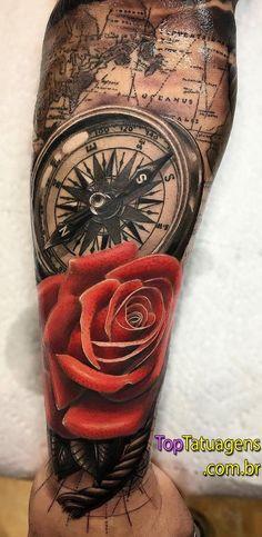 20 braços fechados de tatuagem masculinas para você se inspirar Phoenix Tattoo Sleeve, Arm Sleeve Tattoos, Tattoo Sleeve Designs, Tattoo Designs Men, Full Leg Tattoos, Arm Tattoos For Guys, Couple Tattoos, Tattoos For Women, Forarm Tattoos