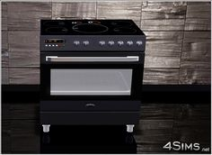 4Sims - Ultimate stove, modern electric range cooker featuring ceramic cooktop and a digital controlled oven, for your Sims 3 kitchens.