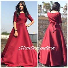 Indian Fashion Dresses, Indian Gowns Dresses, Indian Designer Outfits, Designer Dresses, Fashion Outfits, Designer Wear, Bridesmaids Gowns With Sleeves, Simple Bridesmaid Dresses, Prom Dresses Long With Sleeves