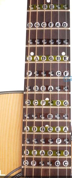 Fingerboard Note Decals- Acoustic/Electric Guitar