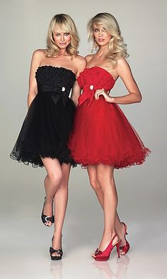 These dresses would be beautiful with sparkles all over the skirt and on the very top of the bodice!