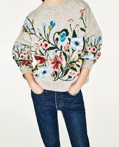 ZARA - COLLECTION SS/17 - SWEATER WITH EMBROIDERED FLOWERS