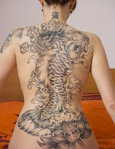This is what i am getting when I get down to where I want to be at loved this one..the dragon koi fish full back piece..amazing!=)