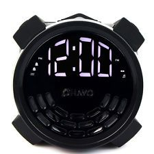 FM Radio Dual Alarm Clock USB Charger with Sleep Timer Multiple Sounds+adapter