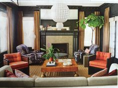Two chairs at sides + 2 at fireplace?