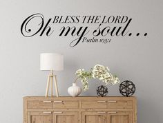 This beautiful wall decal portrays the always loved and popular verse found in Psalm 103:1. A lovely, eye-catching design, this vinyl wall decal is easy to install, and is removable but not reusable. Please note the size of this listing as the picture may not show the size to scale. This decal