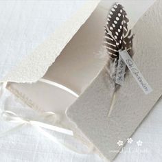 """Mourning card """"Feather beige"""" made of handmade paper Floral Illustrations, Botanical Illustration, Rose Clipart, Memorial Cards, Condolences, Envelope, Birthday Cards, Feather, Greeting Cards"""