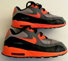 9b2ad5f74707 Nike Air Max Toddler 90 Gray  Orange Leather Shoes 408110-036 Size 10C VGC   Nike  Athletic