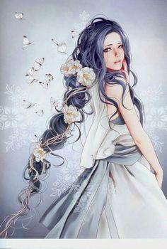39 Ideas For Manga Art Girl Beautiful Art Anime, Anime Artwork, Fantasy Artwork, Anime Art Girl, Manga Art, Manga Anime, Anime Girls, Anime Fantasy, Fantasy Girl