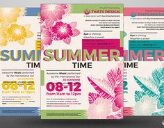 """Check out new work on my @Behance portfolio: """"Summertime Flyer Template V2"""" http://be.net/gallery/38061993/Summertime-Flyer-Template-V2"""