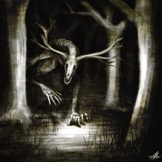Hush, child, sleep at once! Never mind the darkness, never mind the sounds! The night will be over soon. It is just the wind. Dark Creatures, Mythical Creatures Art, Mythological Creatures, Fantasy Creatures, Creatures Of The Night, Creepy Drawings, Dark Art Drawings, Monster Concept Art, Monster Art