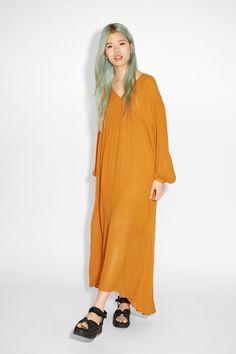 Monki Image 2 of Rina dress in Yellow Reddish Dark