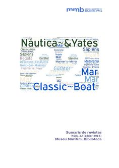 Sumaris de revistes 22: Chasse-Marée, Classic Boat, Descobrir Catalunya, Gent del Masnou, Ingeniería naval, International Journal of Maritime  History, Mar, Mariner's Mirror, Motorship, Náutica & Yates, Sàpiens, Associació Catalana de Capitans de la Marina Mercant, Cuadernos de Pensamiento Naval, Curator, Regata , Revista General de Marina,  Saudi Aramco World, Ships Monthly