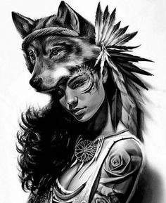 Tatoo Art, S Tattoo, Body Art Tattoos, Girl Tattoos, Sleeve Tattoos, Native American Girls, American Indians, Tattoo Indien, Native Tattoos