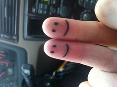 Smiley face tattoo in my pinky with my bestie! First tat