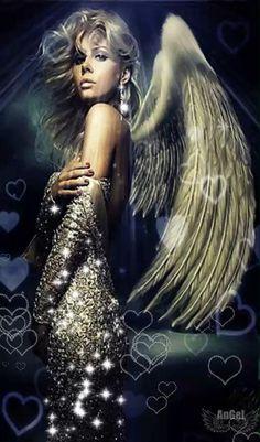 Dark Angels, Dark Angel Wings, Beautiful Fantasy Art, Beautiful Gif, Angels Among Us, Angels And Demons, Dark Angel Wallpaper, 3d Wallpaper, Angel Gif