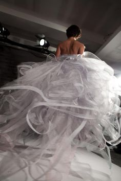 The 'Cloud' dress... Oscar de la Renta