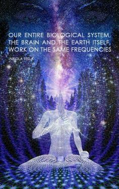 Our entire bioligical system, the brain & the earth itself, work on the same frequencies. - Nikola Tesla
