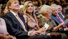 King Willem-Alexander of The Netherlands, Queen Maxima of The Netherlands and Princess Beatrix of The Netherlands attended the final celebration of 200 years of Kingdom of the Netherlands on September 26, 2015 in Amsterdam, Netherlands. The two-year celebration will end with a meeting in Theater Carré and an evening of performances at the Amstel. (The Queen, wearing a dress by Flemish designer Natan)