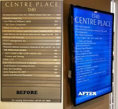 Lobby Directory from ACT Digital Signage and Point-of-Sale, Digital Signage & Mobile Solutions from ACT-POS Changed from Plastic Directory to LCD Directory. Sharp and easy to change.