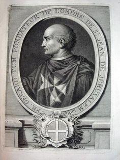 Padre Gerardo Tum. Fundador de la Orden de los Caballeros Hospitalarios, u Orden de Malta.