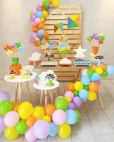 Incrível essa festa com o tema Pipa! Credito: @bliss_festas #Festainfantil #FestaPipa #Pipa #FestaMenino Party Kit, Art Party, First Birthday Party Themes, Birthday Bash, Birthday Decorations, Baby Bash, Candy Bar Party, Bday Girl, First Birthdays