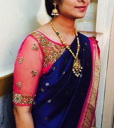 Saree blouse design - visit us : https://www.facebook.com/punjabisboutique whatsapp : +917696747289 pinterest : @nivetas