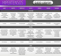 Hipertensos 1400 Calorías