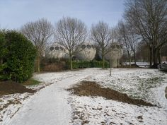 bolwoningen in de winter